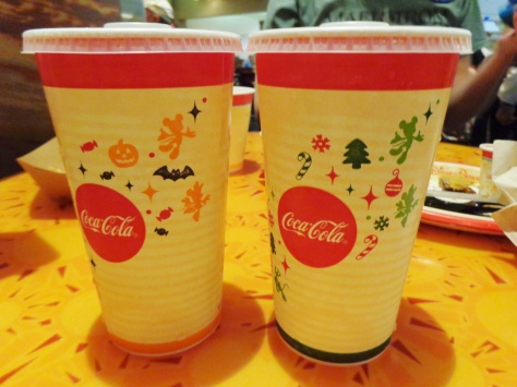 But the cups were changing over from Halloween to Christmas!