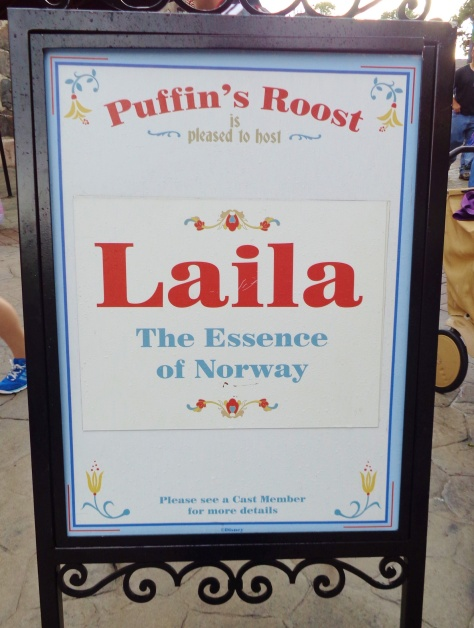 Sign outside the store that carries Laila.