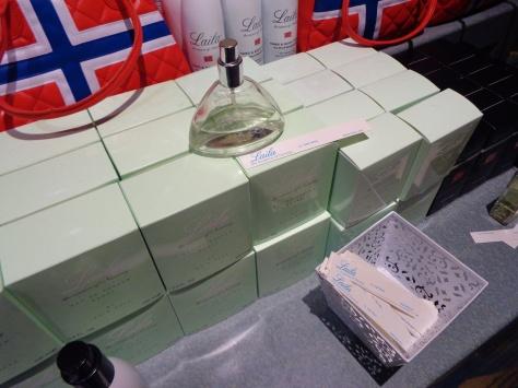 Perfume sampling area.