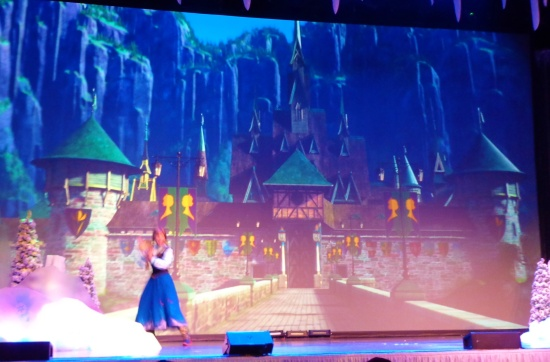 Anna and Elsa make appearances at both the beginning and end of the program.