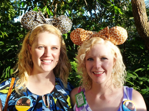 Wearing our animal print ears at DAK.