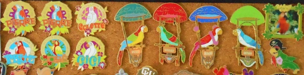 A few of my Enchanted Tiki Room pins.