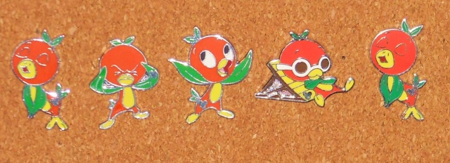 My Orange Bird pins.