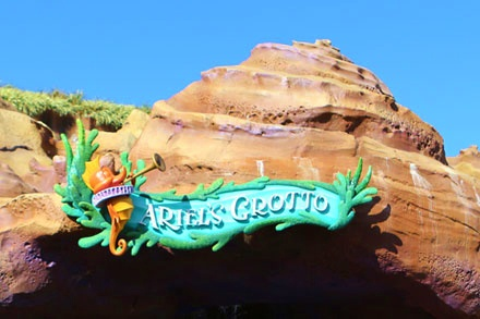 Ariel's Grotto is by the Little Mermaid ride in Fantasyland.