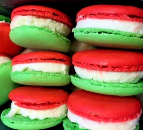 The new Peppermint Macaron Ice Cream Sandwich.