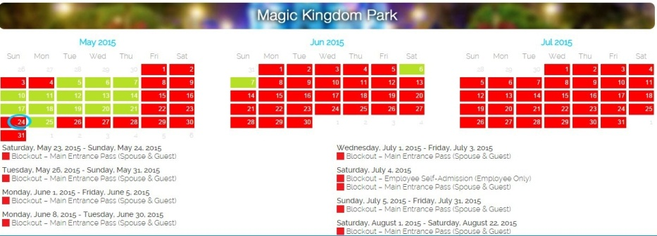 Disney blockout dates in Brisbane
