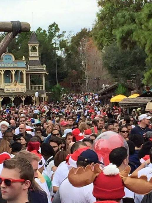 Wall-to-wall guests, all attractions have extremely long wait times, restaurants are packed.