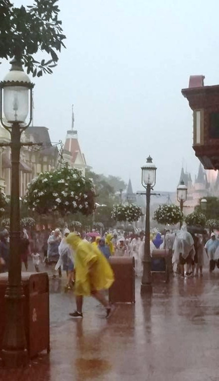 Summer downpour at the Magic Kingdom!