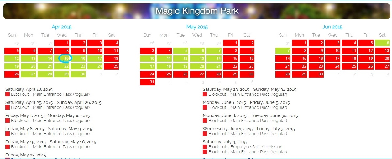 Disney pass blackout dates in Sydney