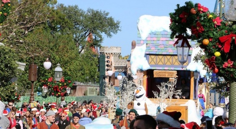 Olaf on his float.