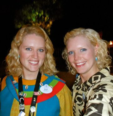 working together at DAK costume Two Disney Sisters