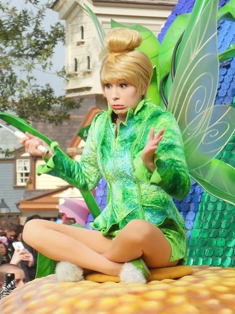 We didn't even know that Tinkerbell had a green jacket!