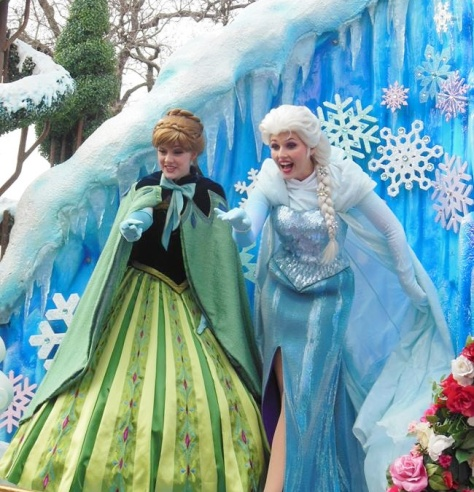 The Frozen princesses.