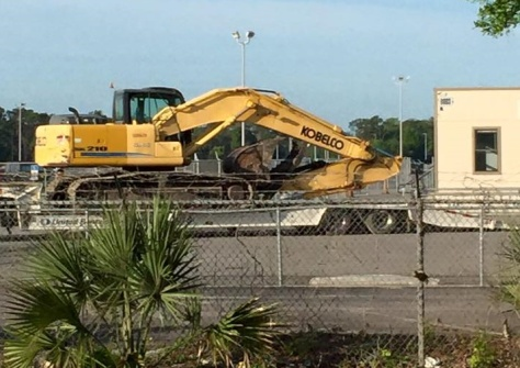 April 8, 2015:  Demolition begins!