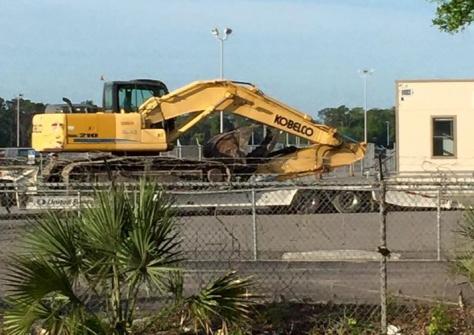 April 8, 2015:  Demolition begins!