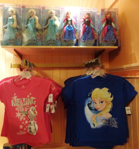 'Frozen' dolls and t-shirts