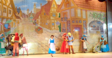 Opening of village scene.