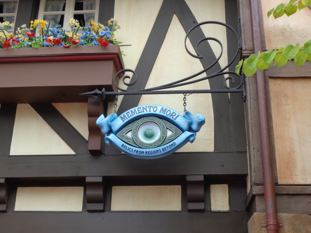 The all seeing eye over the door.