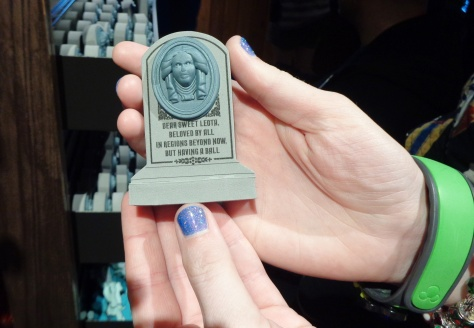 Miniature of the graveyard stone.