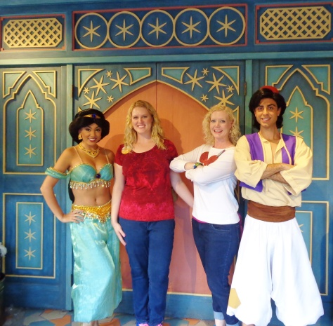 Meeting Aladdin and Princess Jasmine