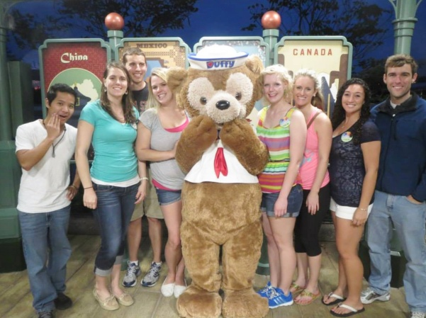 Meeting Duffy with my CP friends.