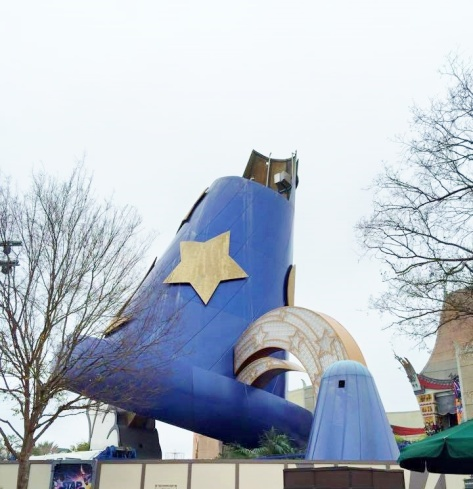 The Sorcerer Hat had its top lopped off on Monday!