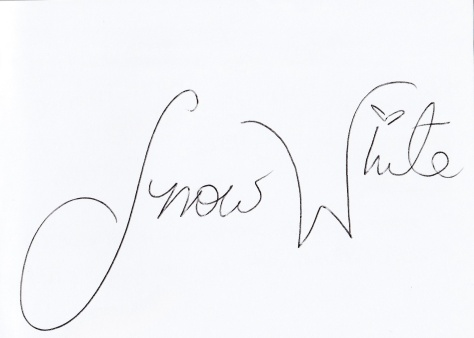 Snow White signed Caroline's autograph book for her.