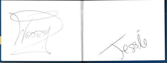 Two more character signature's in Caroline's book!