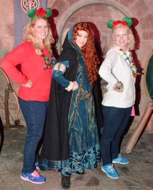 Merida wearing her long cape.