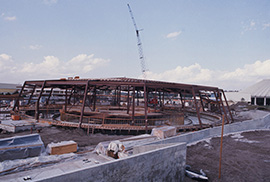 Carousel of Progress being built in 1974.