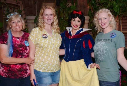 Meeting Snow White before dinner.