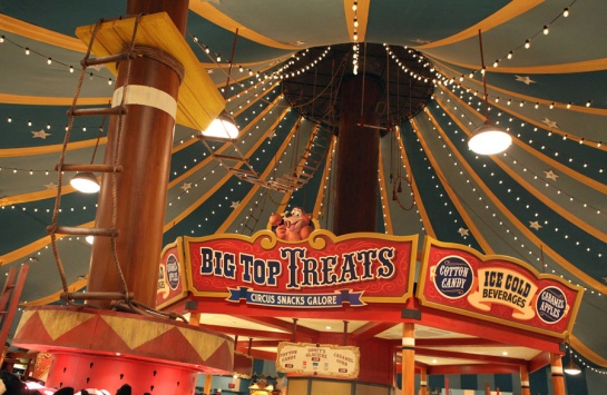 Inside Big Top.