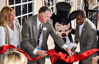 Mickey came to the Grand Opening!