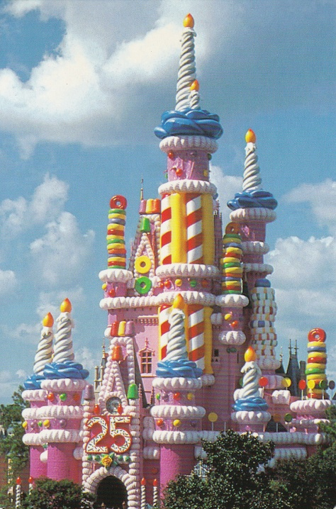 Celebrating WDW's 25th anniversary with the Pink Castle.