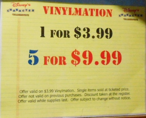Great deals on vinylmations!