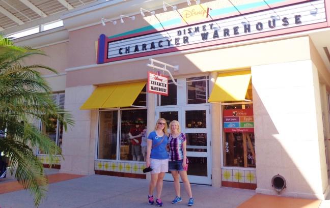 Shopping at Disney's Character Warehouse