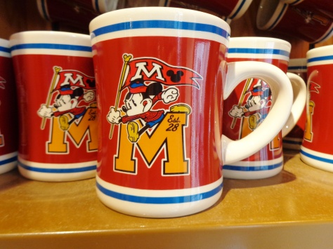Dozens and dozens of different mugs, same as you see in the parks, but 25% off.