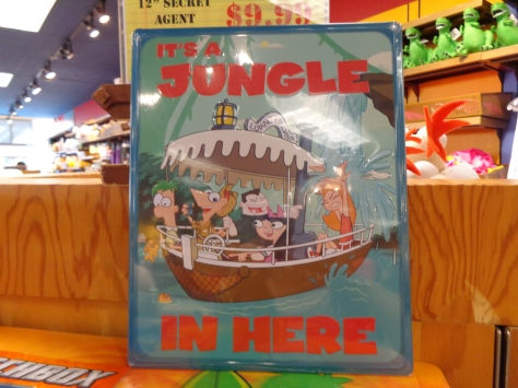Some unusal stuff too like this Jungle Cruise sign.