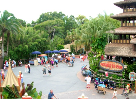 Great views of Adventureland from up here!