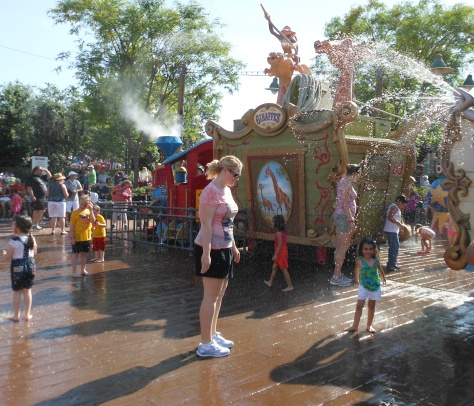 The fountains of Storybook Circus.