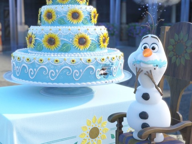 Olaf at the party