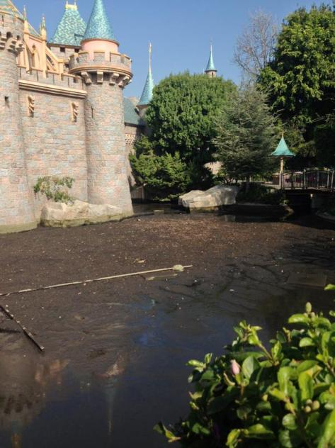 Moat is drained.