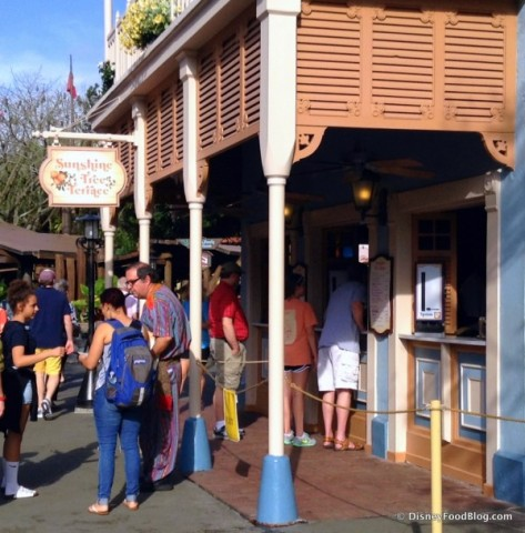 Guests wanting their Dole Whip fix always caused traffic problems here.