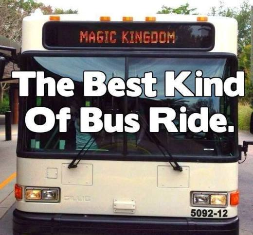 Disney bus going to the Magic Kingdom