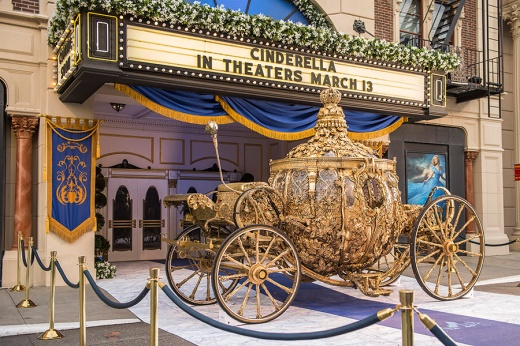 The Cinderella carrriage on display at Hollywood Studios.