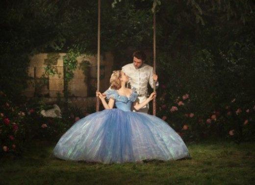We loved this scene when Cinderella swings on the big swing in her huge dress.