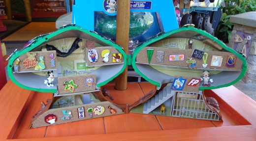 We stopped in to do some pin trading at Discovery Island. We like where they keep their trading pins!