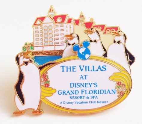 I did get a Grand Opening pin (limited edition 1000 pins), October 2013, for The Villas.