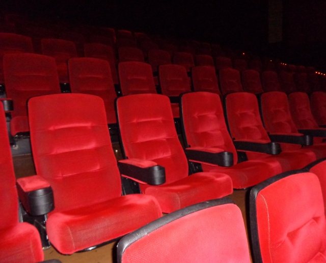 The theater was empty...except for us!
