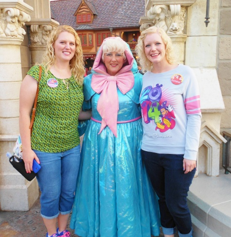 Meeting the Fairy Godmother.